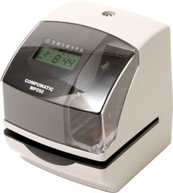 COMPUMATIC MP550 ELECTRONIC TIME CLOCK