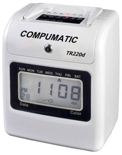Compumatic TR220d Electronic Time Recorder Clock